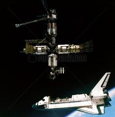 'Atlantis' departing Mir  1995.
