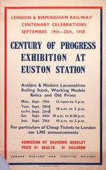 'Century of Progress Exhibition'  LMS poster  1938.