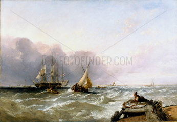 'Shipping off the Dutch Coast'  c 1830.