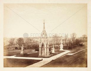 Undercliffe Cemetery  Bradford  c 1860.