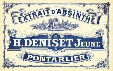 Deniset crate label  c 1910.