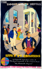 'The Booklovers Britain - Bury St Edmunds'  LNER poster  1933.
