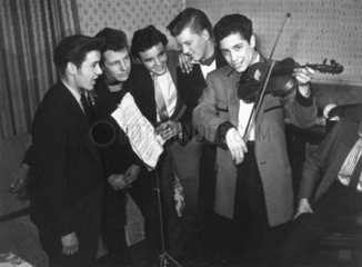 Teddy Boy musicians  11 April 1958.