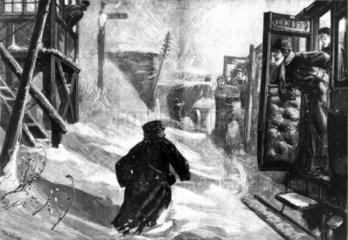 Train stuck in the snow  1881.