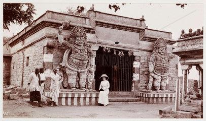 Hindu temple  India  c 1910.
