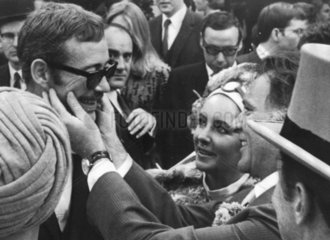 Peter O'Toole  Elizabeth Taylor and Richard Burton  6 October 1968.
