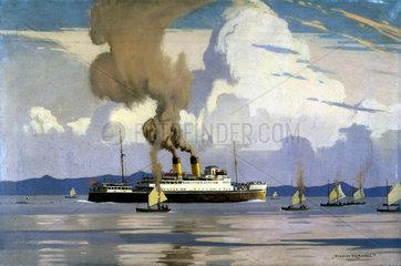 Yachting scene and TSS 'Duke of Lancaster'  1928-1948.