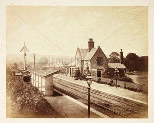 'Lightcliffe Railway Station'  c 1855.