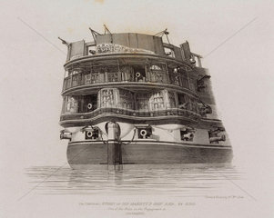 Stern of the HMS 'Asia'  1829.
