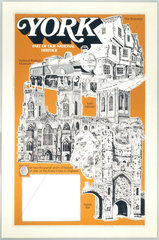 'York - Part of our National Heritage'  BR poster c1970s.