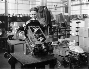 'The Manufacture of Triumph Cars at Triumph Works  Coventry'  1933.