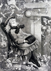 A Christmas Dream  c 1870s.