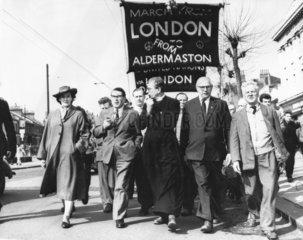 Aldermaston-London march  April 1962.