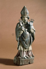 Wooden statue of St Benignus  probably French  17th century.