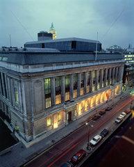 Science Museum at night  London  9 January 1991.