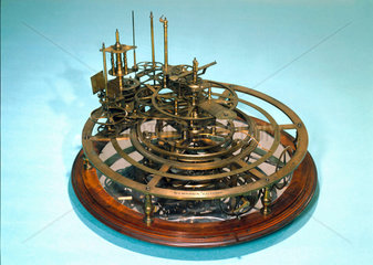 Gear work mechanism of an uncompleted orrery  1762-1800.