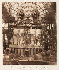 Painting the Abu Simbel colossi  the Crystal Palace  London  1911.