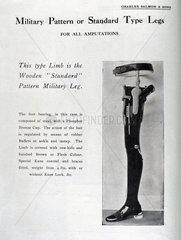 'Military Pattern or Standard Type Legs'  1920-1930.