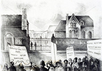 Lockout and demonstration at the Bryant and May match factory  1888.