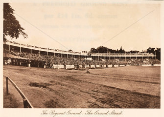 Grandstand at the Pageant Ground  Crystal Palace  Sydenham  1911.