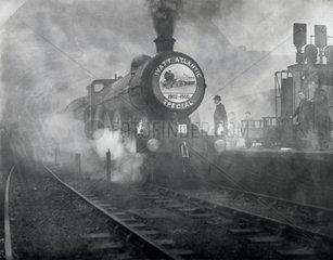 Farewell run for last of the 4-4-2 class steam locomotives  26 November 1950.