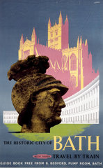 'The Historic City of Bath'  BR (WR) poster  1958.
