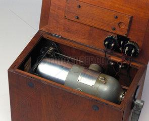 Low power transportable radio transmitter  c 1924.