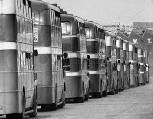 Bus queue  May 1961.