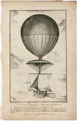 'Mr Martyn's Design for an Aerostatic Globe'  1783.