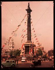 Trafalgar Square  London  1945.