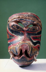 Painted animal face mask  Singhalese from Sri Lanka  1771-1920.