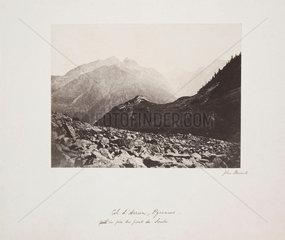 'Vue du col d'Arruns et du pic du pont de Soubé'  1852.
