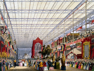 Foreign nave at the Great Exhibition  Crystal Palace  London  1851.