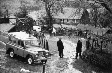 Farm murder scene  1980s.