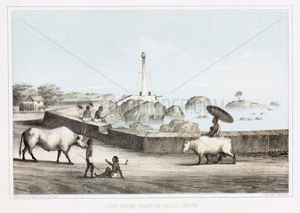 'Light House  Point de Galle  Ceylon'  1853.