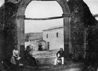 St Nicolo's convent and chapel  Mount Etna  Sicily  Italy  1846.