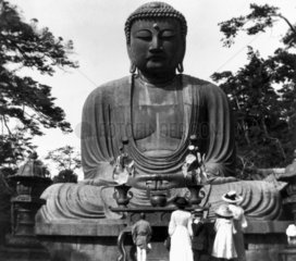 Statue of Buddha at Kamakura in Japan  c 19