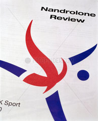 Report on the banned substance nandrolone  2000.