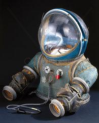 Upper half of a partial-pressure suit  c 1954.