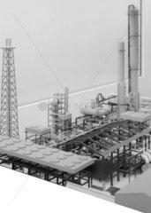 Ammonia synthesis plant  c 1977.