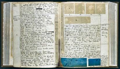 John F W Herschel's notebook  1839.