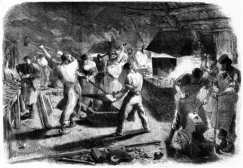 Forge used in construction  1862 Exhibition  London.