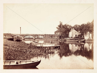 Boats on a river  c 1855.