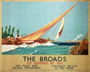 'The Broads'  LNER poster  1934.