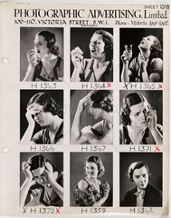 Photographic Advertising Limited contact sheet  c 1950.