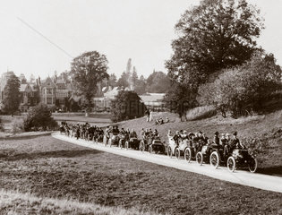 Automobile Club meet at 'Hendre'  near Monmouth  Wales  1900.