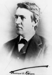 Thomas Edison  American inventor  c 1880.