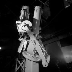 Engineer with finished 30 inch reflecting telescope  Grubb Parsons  1962.