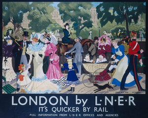 London - Rotten Row  LNER poster  1895.