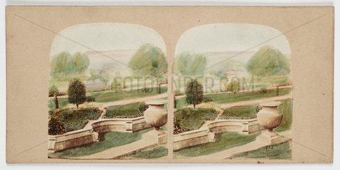 'View of the Italian Flower Garden...'  c 1880